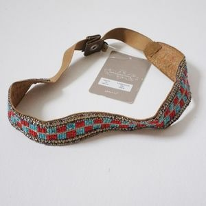 Anthropologie Beaded Checkered Belt NWT
